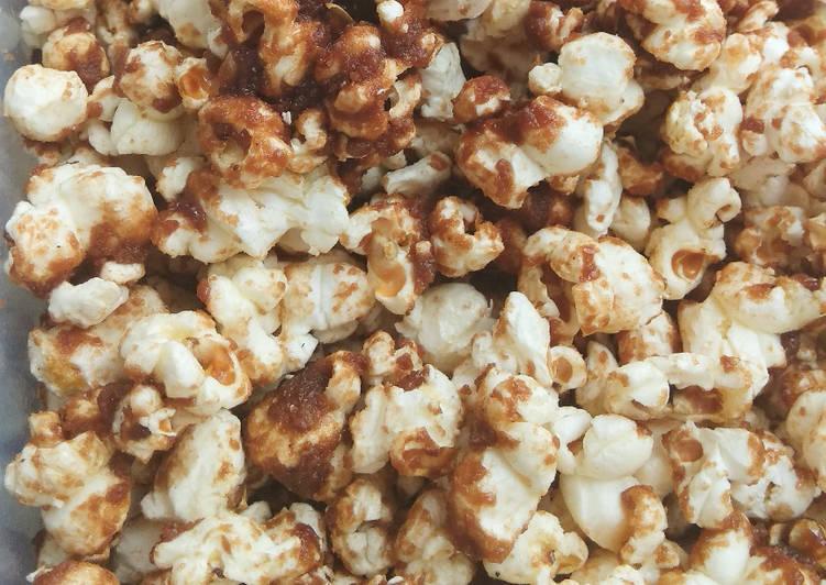 Popcorn gula coklat homemade
