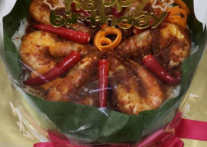 Nasi Sambal Udang Cake Auumm