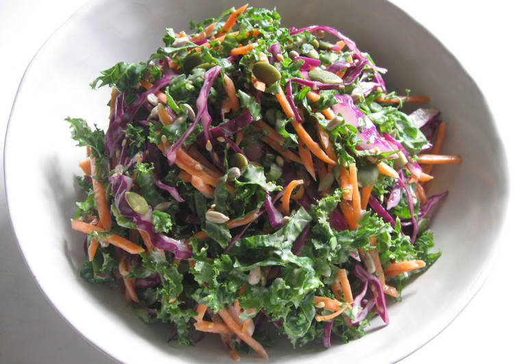 Kale Coleslaw with Yoghurt Dressing