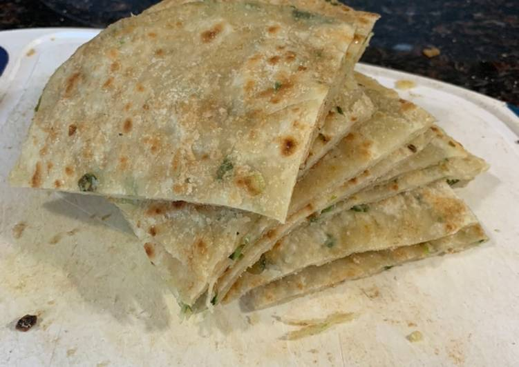 Having This 15 Superfoods Is A Great Way For Your Health, Chinese Scallion Pancake (葱油饼) (cōng yóu bǐng)