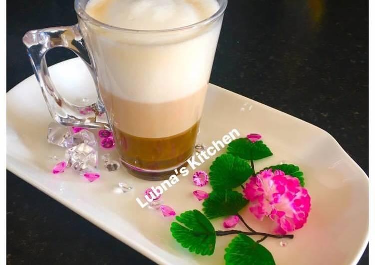 Recipe of Ultimate Triple Coloured Coffee: Three layers of coffee: