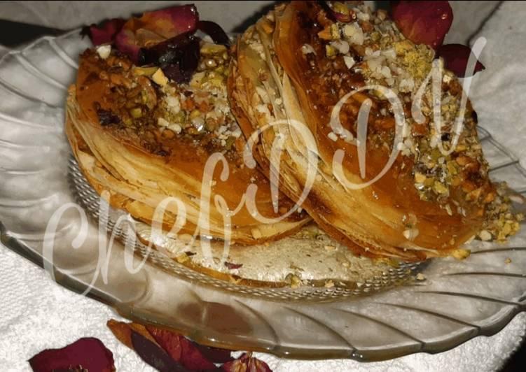 Dry Fruits Gulkand Baklava....Mediterranean dessert