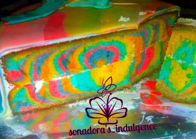 #bakecake multicolored marble birthday cake