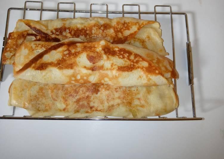 Banana rolled pancake