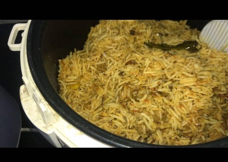 Menu lebaran nasi briyani instan