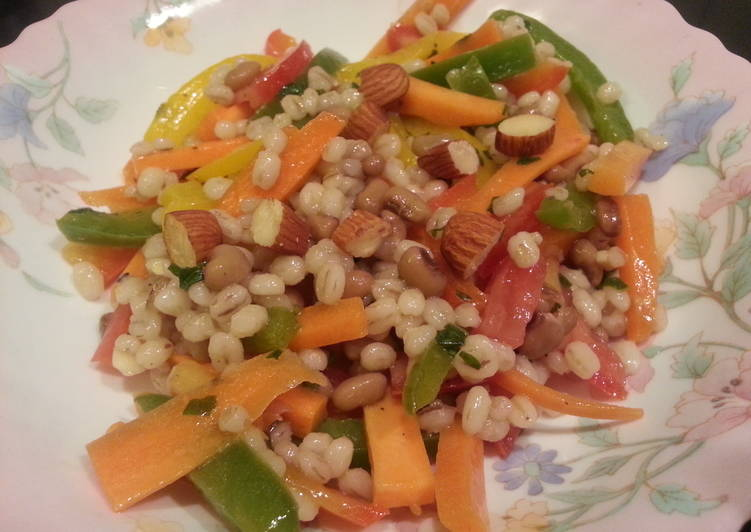 Simple Way to Make Homemade Barley bell peppers salad