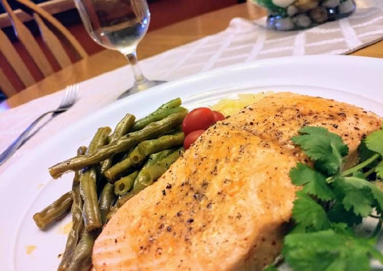 Sweet & Spicy Salmon w/Green Beans