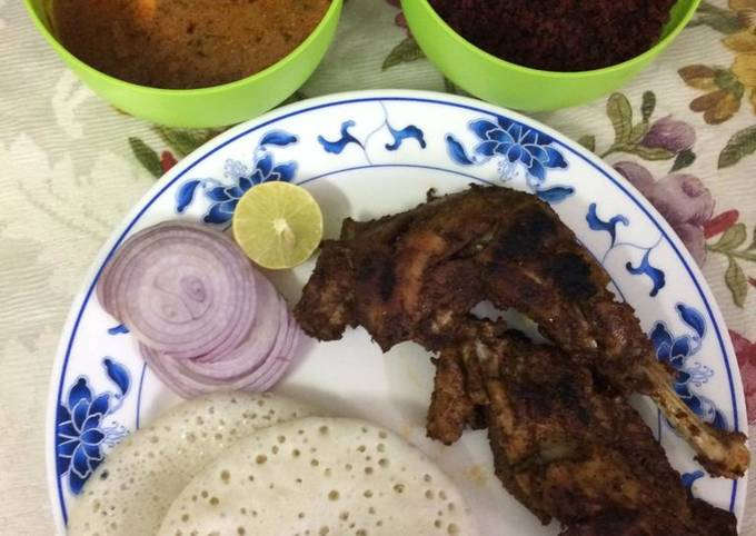 Steps to Make Jamie Oliver Kerala appam with egg curry,beetroot toran (with coconut)