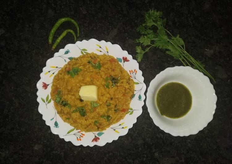 25 Minute Recipe of Summer Moong dal daliya