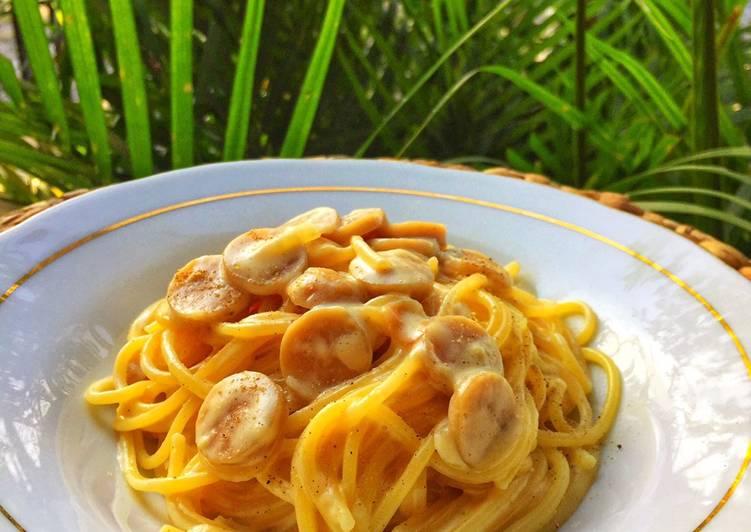 Spaghetti carbonara super creamy