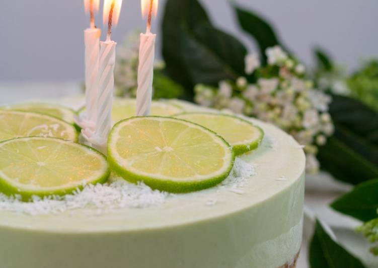 Cheese-cake végétal au citron vert