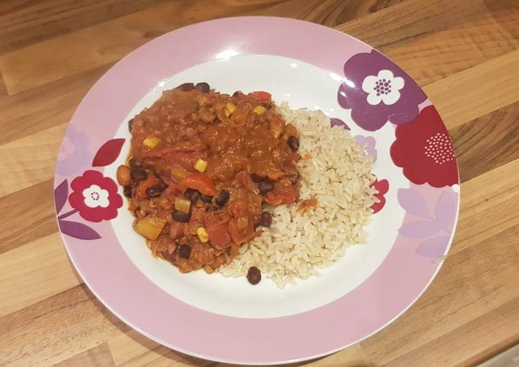 Recipe of Award-winning Vegetable chilli with cocoa