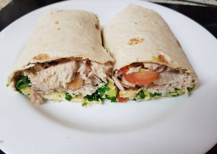 Recipe of A Nice Healthy Wrap. 🤗 Speedy