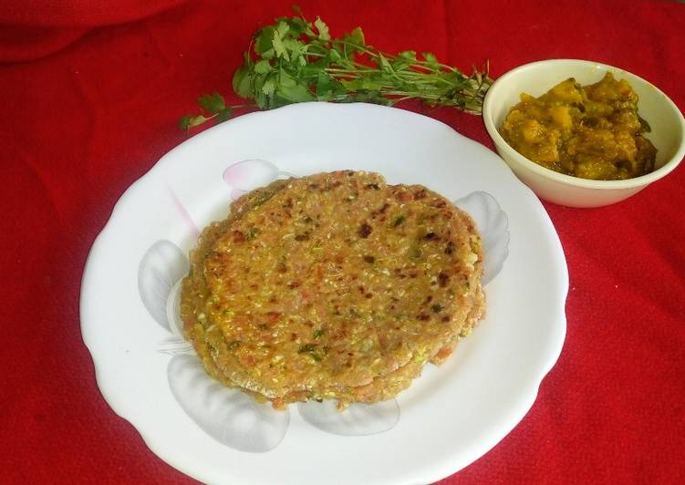 Recipe of Homemade Carrot and cabbage paratha