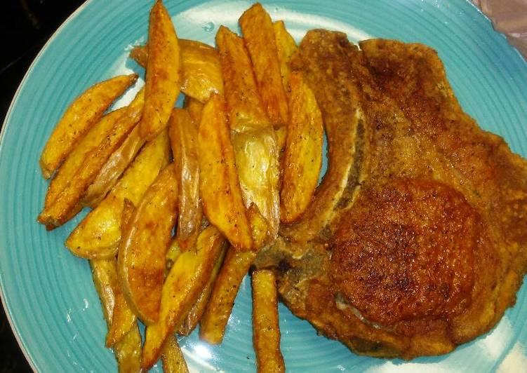 How to Prepare Ultimate Pork Chops& Seasoned Fries