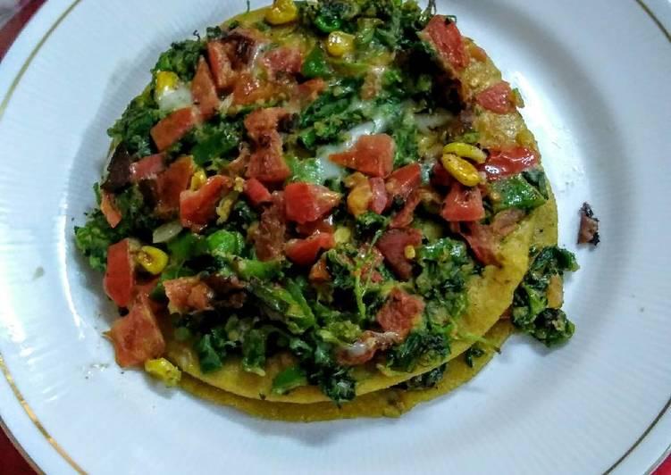 5 Minute Recipe of Homemade Green chilla roti