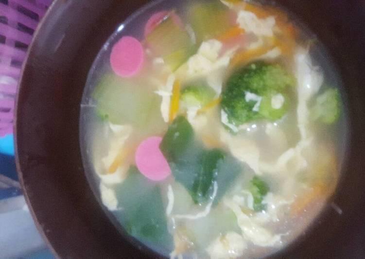 Resep Sup sayur pohon Yang Mudah Lezat