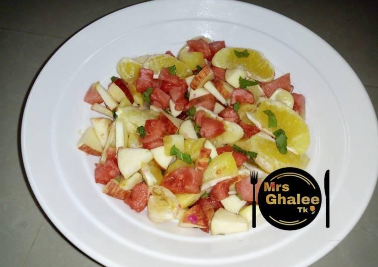 Mint leave easy fruits salad