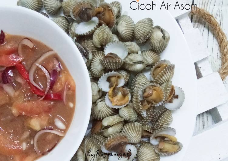 Kerang Rebus Cicah Air Asam - resepipouler.com