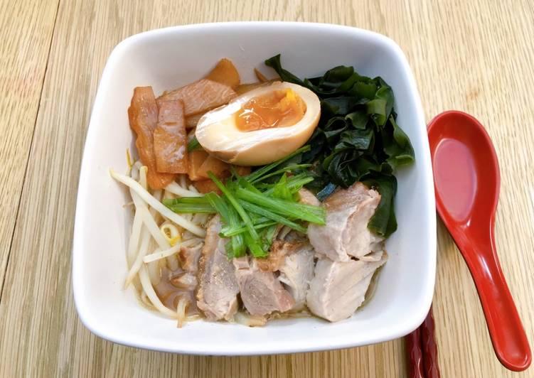 Recipe of Ultimate Japanese style pork char-siu miso ramen