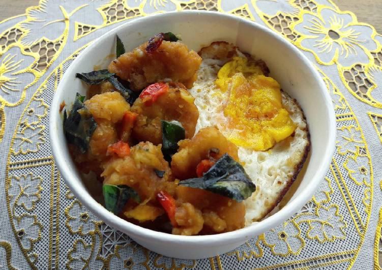 Salted Egg Chicken (pakai salted egg powder)