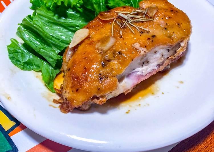 Chicken Cordon Blue with Teriyaki Sauce