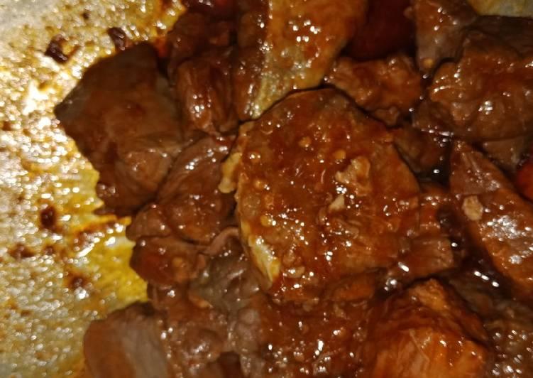 Sambal balado paru+daging sapi