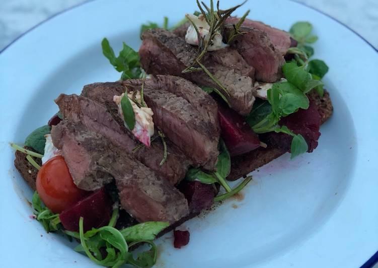 Step-by-Step Guide to Make Favorite Steak Smørrebrød (Danish open sandwich) 🇩🇰 🥩