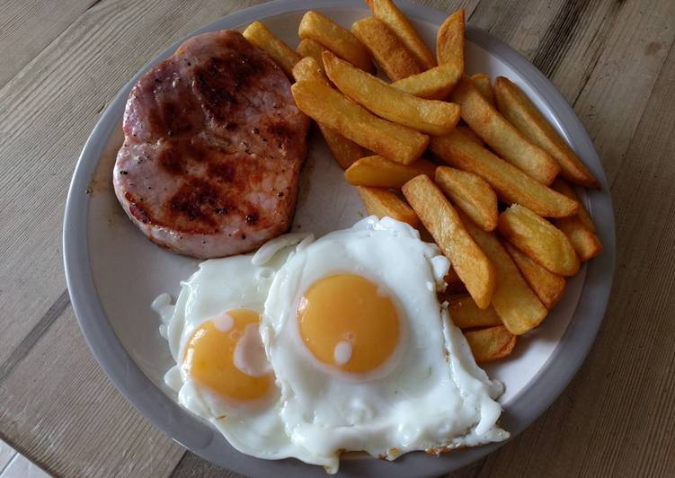 Recipe: Tasty Gammon chips and egg