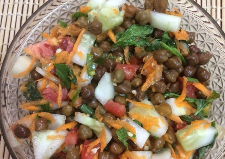 50+ Dinner Ideas Special Brown Chana salad high protein recipe(weightloss)