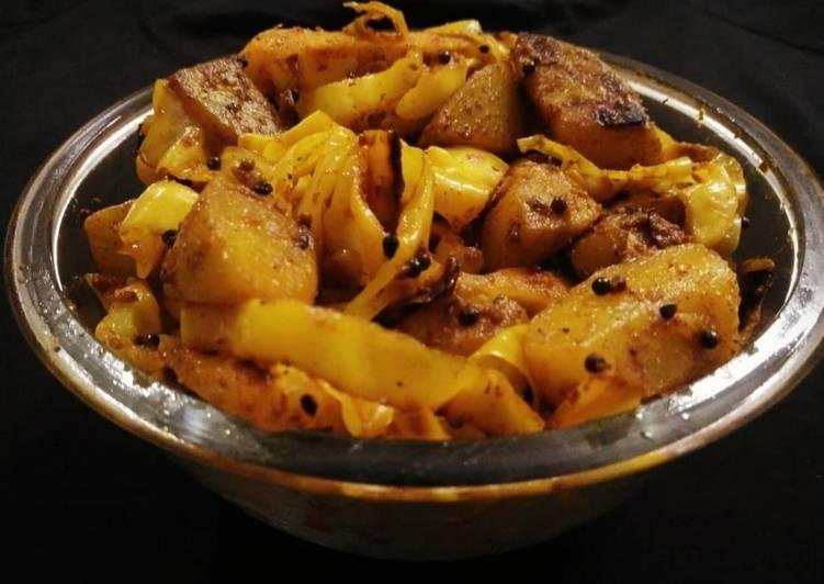 Squash & Cabbage Sabzi