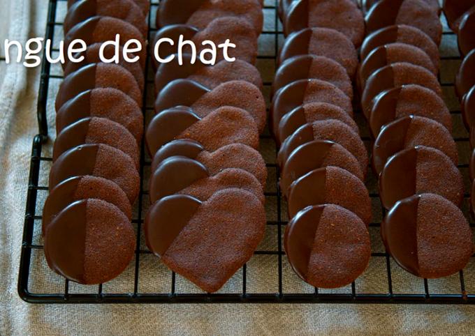 Cocoa Cookies / Langue De Chat