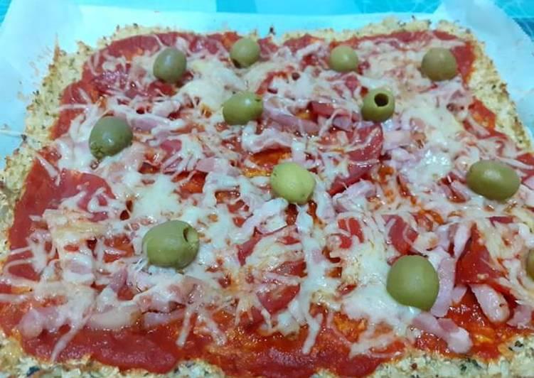 Colipizza (pizza con base de coliflor)