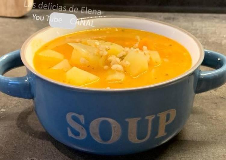 Sopa de cebada - Rassolnik sopa tradicional rusa
