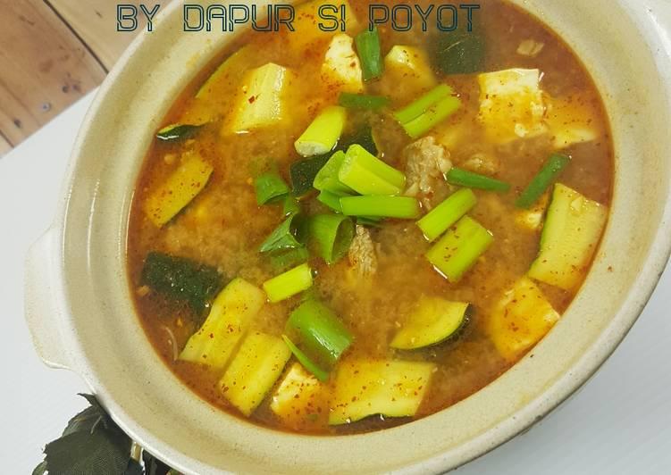 Resep Doenjang Jjigae Aka Soybean Paste Stew Oleh Ratnakomala Cookpad