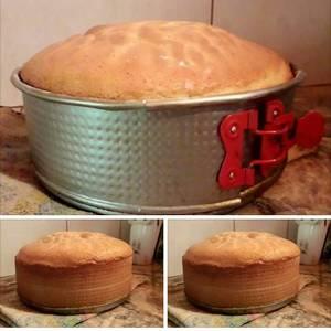 Torta/bizcochuelo muy alto y esponjoso