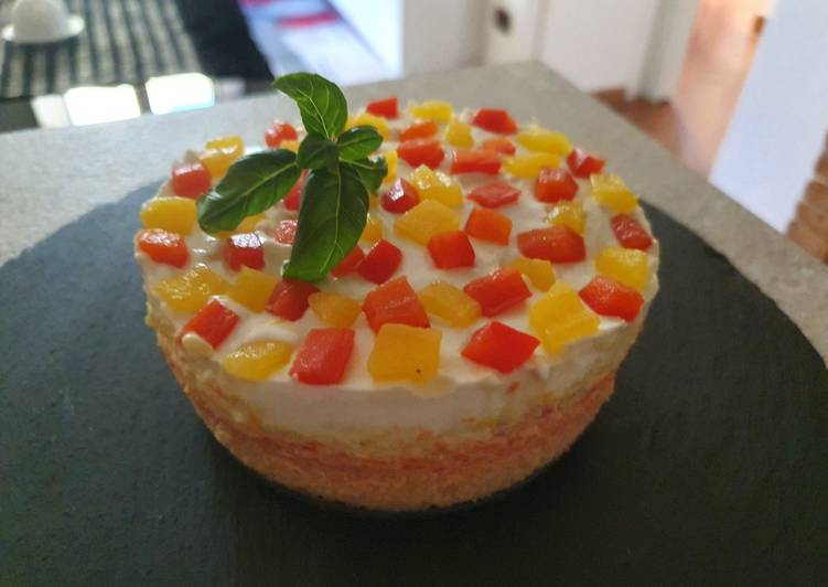 Ricetta Cheesecake salato ai peperoni