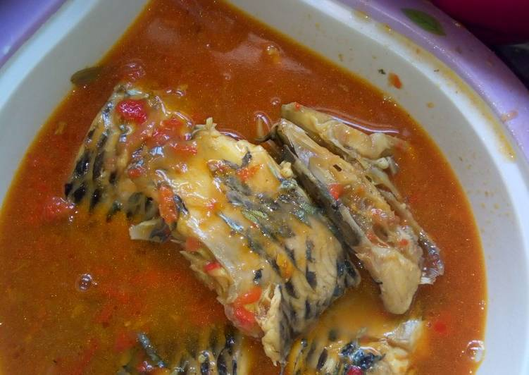 How to Prepare Homemade Fish pepper soup