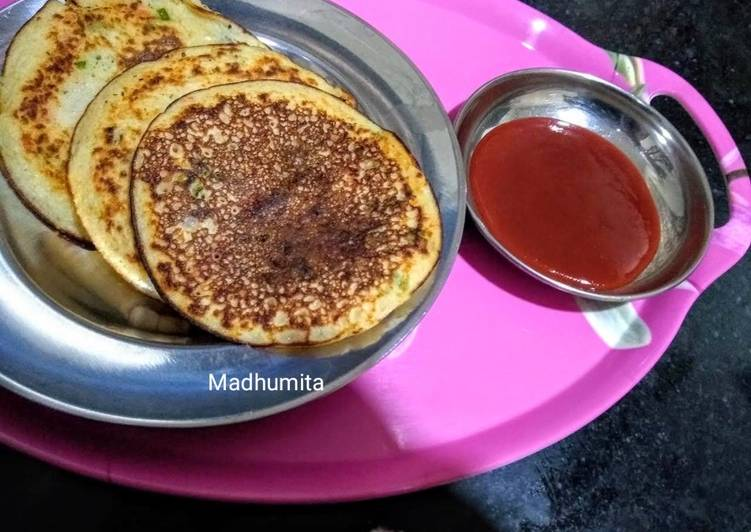 Recipe of Most Popular Instant Mixed Veg Uttappam