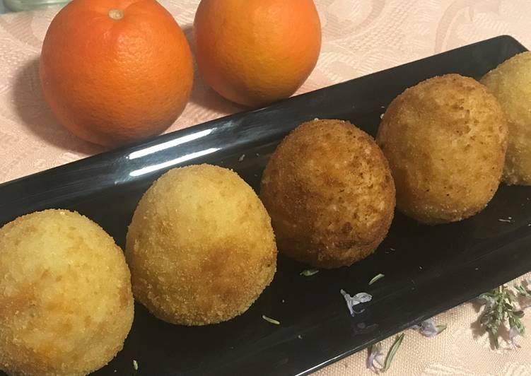 """Arancini al ragú, plato siciliano, el preferido del """"comisario Montalbano 😎"""""""