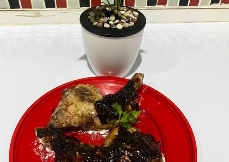 Ayam Panggang Madu Lada Hitam - cookandrecipe.com