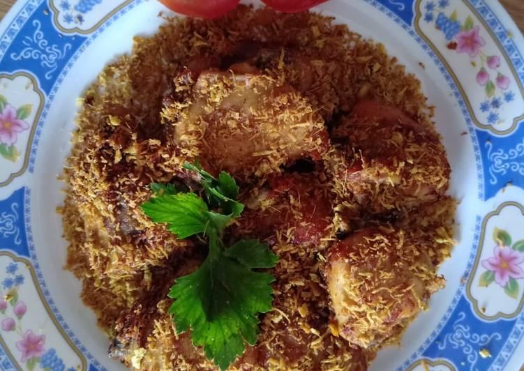 Ayam goreng serundeng kelapa - cookandrecipe.com