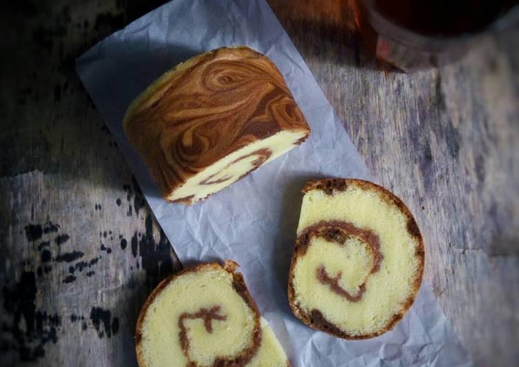 Bolu Gulung / Roll Cake Marmer