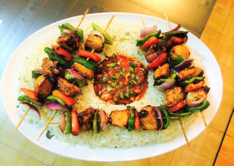 Chicken Shashlik With Gravy Recipe 🍛