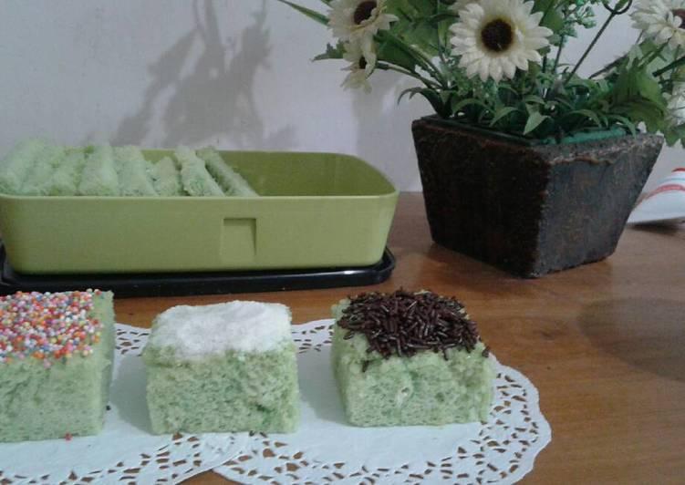 Bolu Pandan (tanpa pengembang kue dan emulsifier)