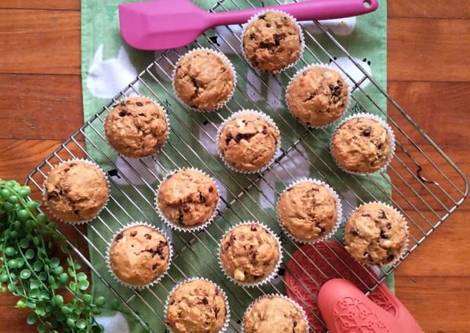 Healthy Zucchini Banana Muffins