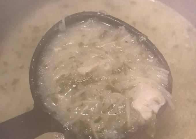 Soupe blanche au vermicelle شربة بيضة جزائرية