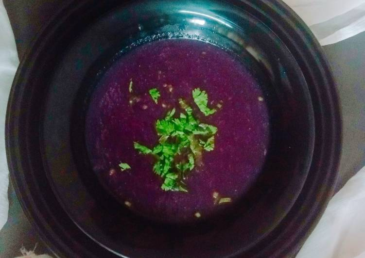 Purple soup (south Indian style)
