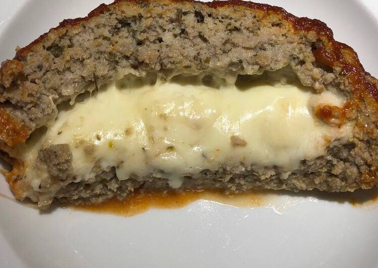 Recipe of Speedy Cheesy Turkey Meatloaf
