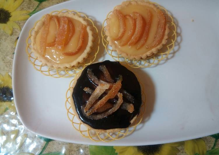 Mini tartes des oranges
